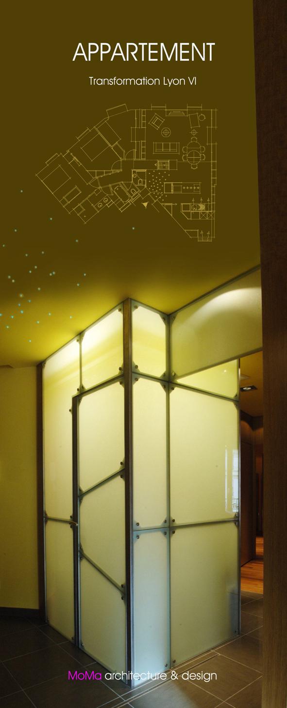 appartement transformation lyon vi moma lyon cabinet d 39 architectes lyon architecture. Black Bedroom Furniture Sets. Home Design Ideas