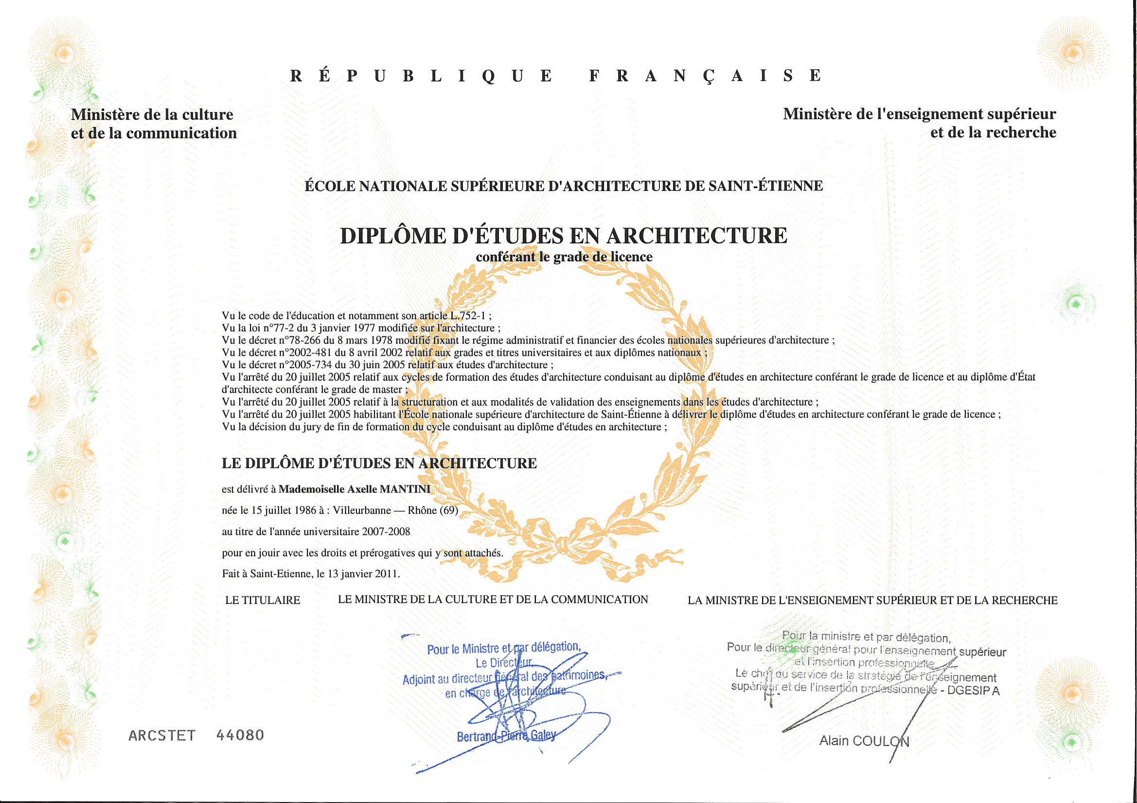 AM diplome LICENCE