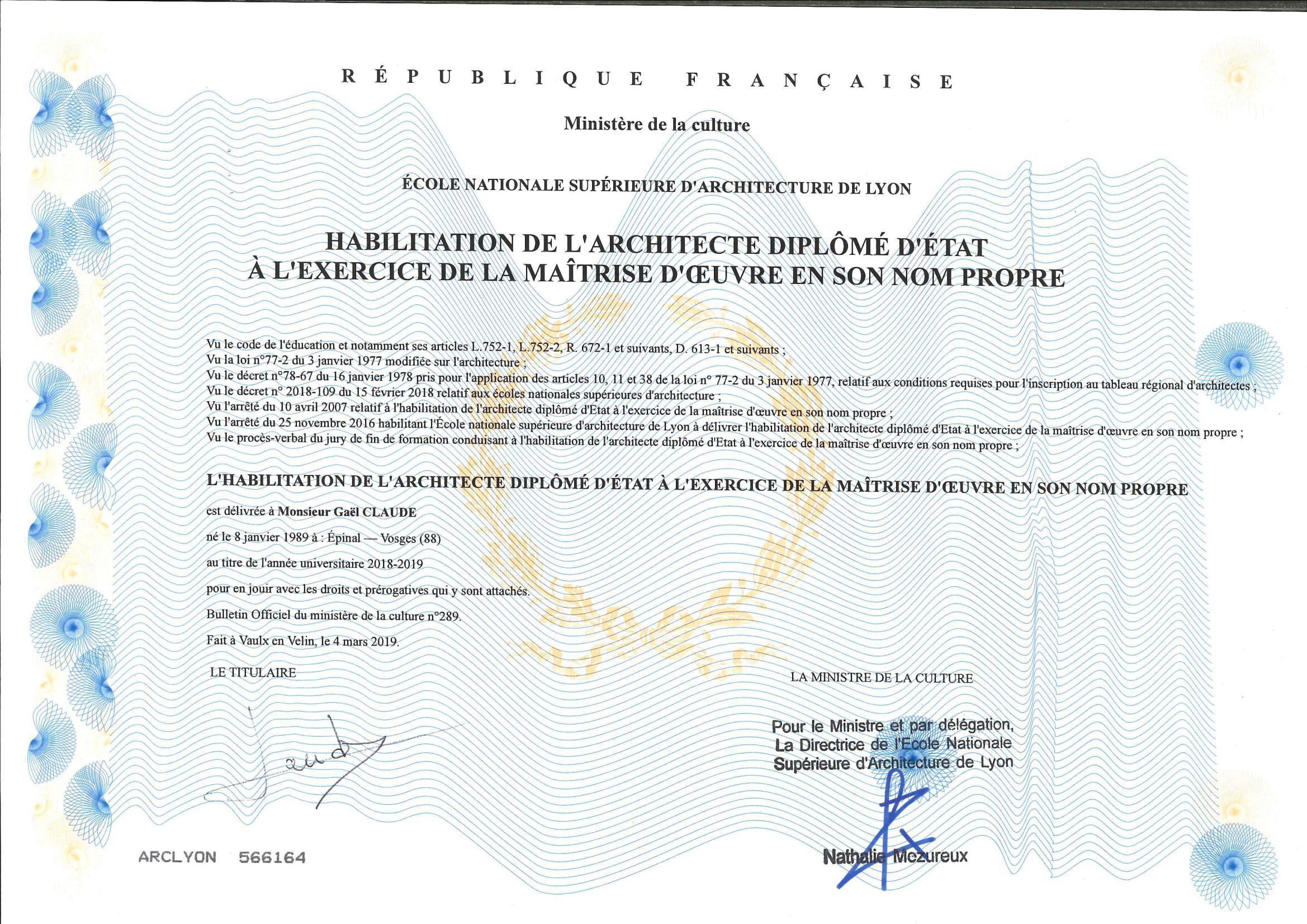 GAEL Diplome Hmonp